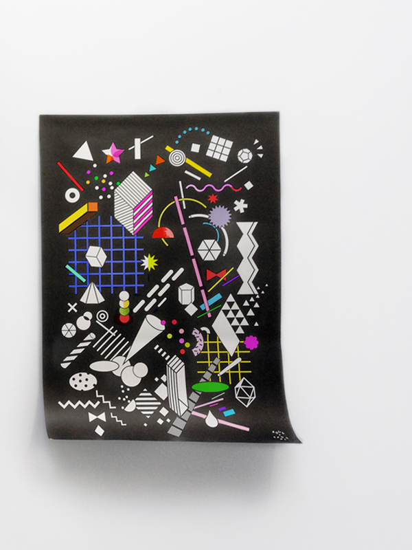 Shapes in Space Colouring Poster