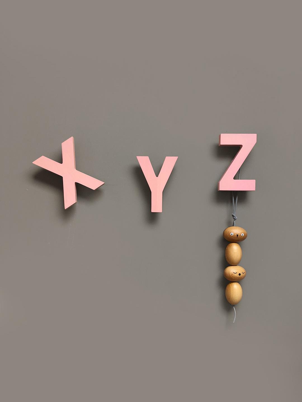 Alphabet Soup Wall hooks – XYZ (Rose)